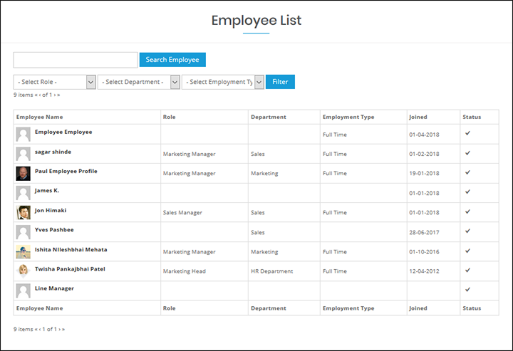 WP-HR Manager Organisation Directory