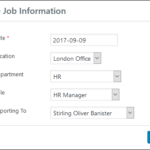 Employee Screen Shot 06 - New Employe Edit Job Tab Job Info