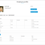 WP-HR Manager Employee Profile Leave Tab