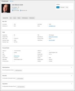 Employee Screen Shot 03 - New Employe General Information