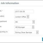 Employee Screen Shot 06 - New Employe Edit Job Tab Job Info