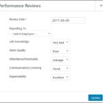 Employee Screen Shot 06 - New Employe Edit Performance Tab Performance Pop Up